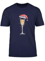 Weihnachten Prosecco Shirt Weihnachtsmutze Weinglas T Shirt