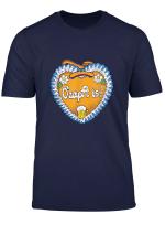 Oktoberfest Design Gingerbread Heart With O Zapft Is T Shirt