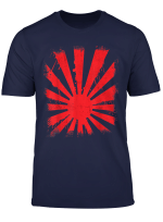 Japanese Flag Dripping Rising Sun Flare T Shirt