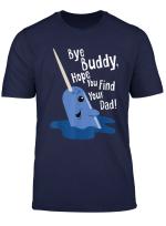 Bye Buddy Narwhal Elf Funny Christmas Holiday Gift T Shirt
