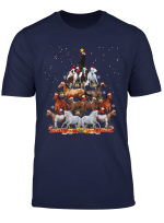 Horse Christmas Tree Horse Santa Xmas Gifts Boys Kids T Shirt