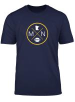 Minnesota Football Mn State Map Outline T Shirt