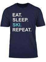 Skifahrer Shirt Eat Sleep Ski Repeat T Shirt Wintersport