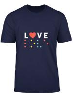 Damen Love T Shirt Liebe T Shirt Geschenk Party Shirt