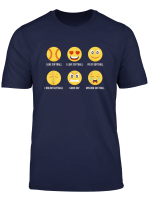 Funny Softball Tshirts I Love Softball Emoji Athlete Tee