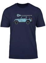 Retro Hippie Suv Off Road Vehicle Lacrosse Lax T Shirt