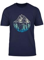 Minimal Mountains Geometry Outdoor Hiking T Shirt