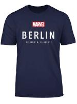 Marvel Logo Berlin Coordinates T Shirt