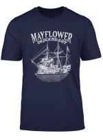 Mayflower Descendant Boat History Gift Usa Pilgrim Fathers T Shirt