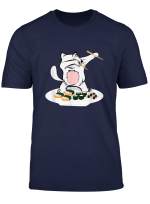 Dabbing Cat Tee Shirt Sushi Chef Cat Funny Kitty Tshirt