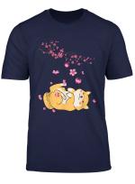Shiba Inu Dog Japanese Cherry Blossom Sakura Flower Spring T Shirt