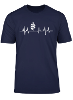 Vegan Power Plant Heartbeat T Shirt