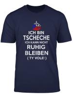 Herren Herren Shirt Tscheche Ruhig Bleiben