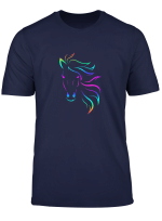 Horse Lovers Horseback Riding Equestrian Colorful T Shirt
