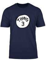 Dr Seuss Thing 3 Emblem Red T Shirt