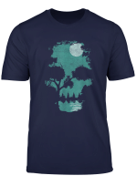 Mens Wilderness Skull Illusion Shirt T Shirt