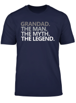 Mens Grandad The Man The Myth The Legend Father S Day Gift Tshirt