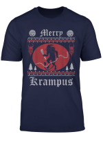 Merry Krampus Christmas Psychobilly Horror Ugly Sweater T Shirt