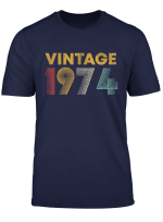 45 Years Old Born In 1974 Vintage 45Th Birthday T Shirt