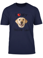 I Heart Love My Yellow Lab Portrait Of Labrador Face Tee