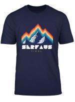 Serfaus Tirol Osterreich Retro 80S Skiferien Geschenk T Shirt