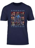 Marvel Avengers Endgame Stronger Together Panel Graphic Tee