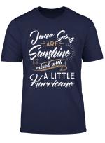 June Girls Are Sunshine Shirt June Birthday Shirts For Women