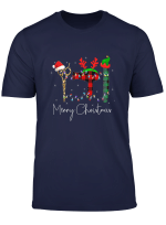 Merry Christmas Hairstylist Tee Hairdresser Tool Barber Xmas T Shirt