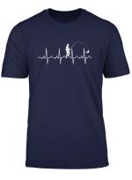 Angler Herzschlag Angeln Ekg Herzfrequenz Angler Geschenk T Shirt
