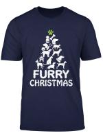 Furry Christmas Dogs And Cats Christmas Tree Christmas T Shirt