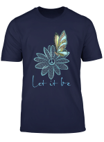 Flower Children Tees For Women Let It Be Flower Butterfly T Shirt