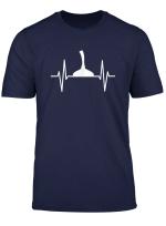 Stockschiessen Herzschlag Stocksport Eisstockschiessen T Shirt