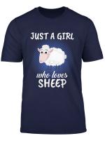 Damen Just A Girl Who Loves Sheep Schaferin Geschenk Schaf T Shirt