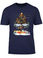 Horse Christmas Tree T Shirt Funny Xmas Shirt For Men Women