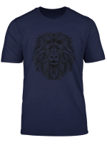 Lion Mandala Pattern Oriental Ornaments Art African Gift T Shirt