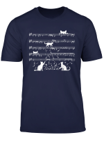 Funny Cat Playing Musical Notes Rock Musician Cute Animal T Shirt