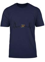 Herzschlag Hund Hundekopf Hardbeat Tshirt