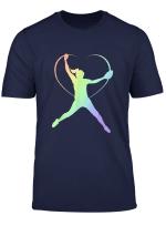 Soft Rainbow Softball Gifts For Teen Girls Pitcher T Shirt