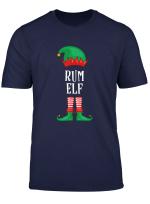 Herren Rum Elf Partnerlook Familien Outfit Weihnachten T Shirt