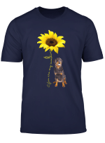 You Are My Sunshine Sunflower Rottweiler Rottie Mom Shirt T Shirt