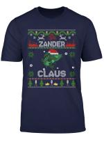 Zander Claus Weihnachtspulli Fur Angler Lustiges Weihnacht T Shirt