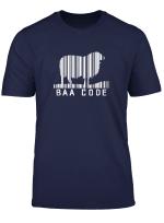 Baa Code Barcode Sheep Lamb Farming Farm Farmer T Shirt