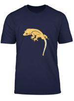Yellow Tiger Crested Gecko Lizard T Shirt