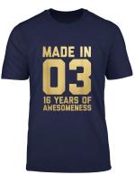 16 Geburtstag Hemd Fur Madchen 16 Jahriger Jungen Geschenk