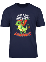 Just A Boy Who Loves Dragons For Kids Men T Shirt