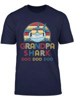 Retro Vintage Grandpa Sharks Tshirt Gift For Mens