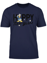 Disney Donald Duck Happy New Year Black Lettering T Shirt