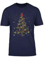 Cute Flat Coated Retriever Dog Christmas Tree Gift Decor T Shirt
