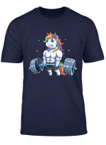 Unicorn Weightlifting T Shirt Deadlift Fitness Gym Women Tee