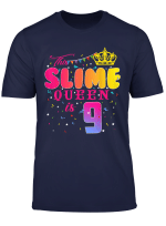 9 Years Old 9Th Birthday Slime Queen Shirt Girl Gift Party